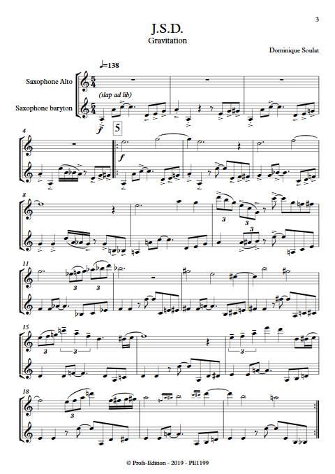JSD - Duo de Saxophones - SOULAT D. - Partition