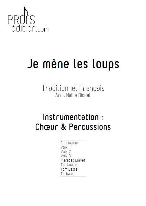 Je mène les loups - Chœur et Percussions - TRADITIONNEL FRANCAIS - page de garde