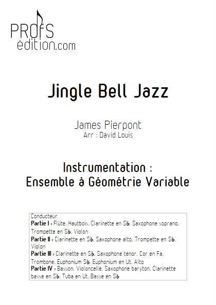Jingle Bell Jazz - Ensemble Variable - PIERPONT J. - page de garde
