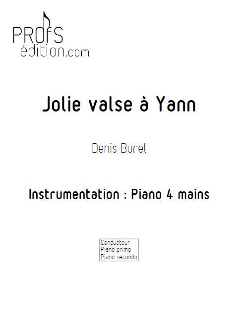 Jolie valse a Yann - Piano 4 mains - BUREL D. - page de garde