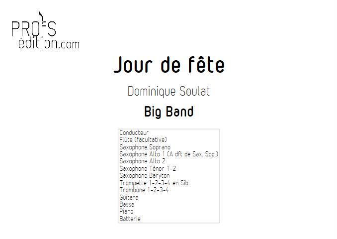 Jour de fête - Big Band - SOULAT D. - page de garde