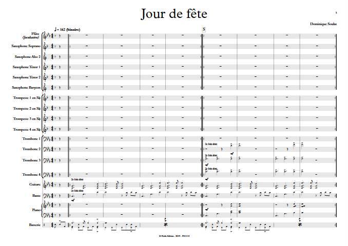 Jour de fête - Big Band - SOULAT D. - app.scorescoreTitle