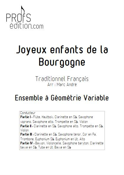 Joyeux enfants de la Bourgogne - Ensemble Variable - TRADITIONNEL FRANCAIS - page de garde