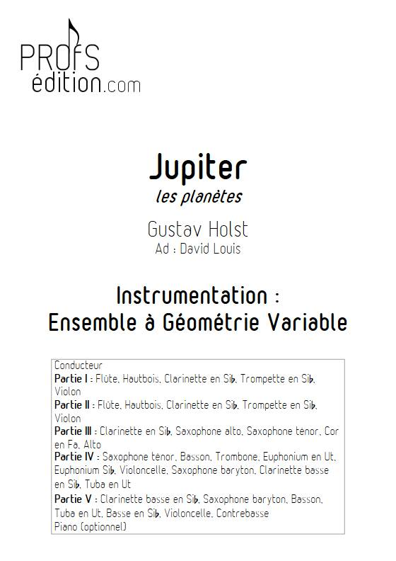 Jupiter - Ensemble Variable - HOLST G. - page de garde