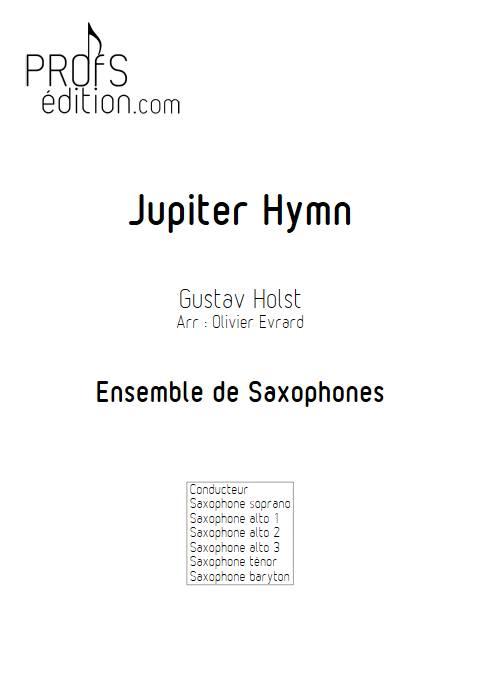 Jupiter Hymn - Ensemble de Saxophones - HOLST G. - page de garde