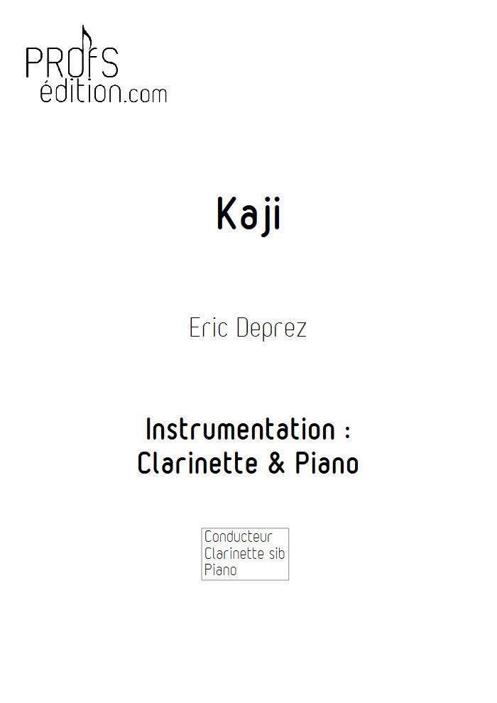 Kaji - Clarinette & Piano - DEPREZ E. - page de garde