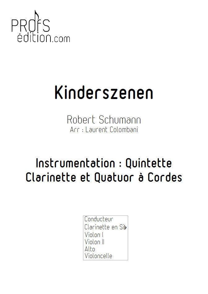 Kinderszenen - Clarinette et Quatuor à Cordes - SCHUMANN R. - page de garde