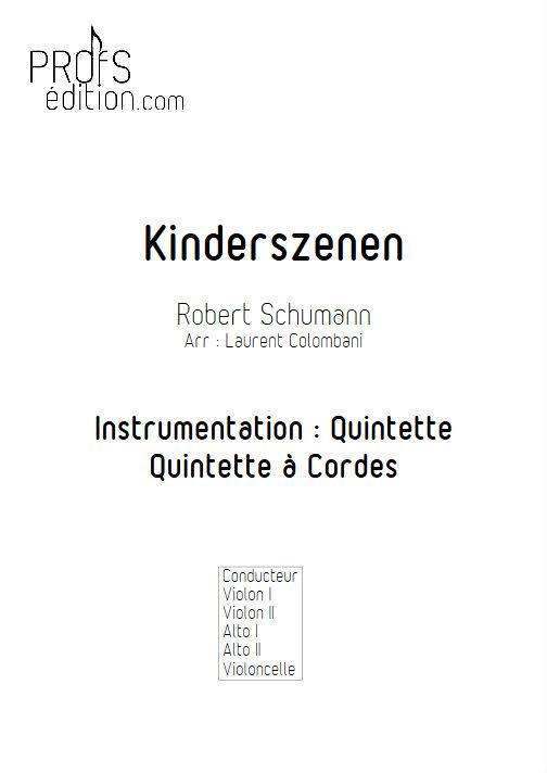 Kinderszenen - Quintette à Cordes - SCHUMANN R. - page de garde