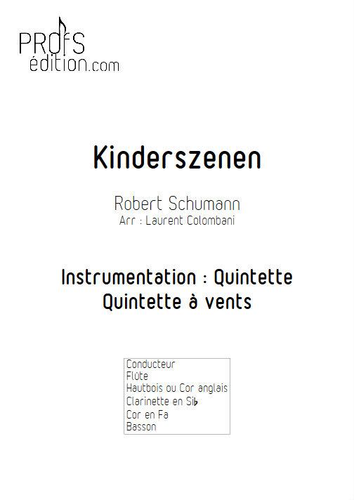 Kinderszenen - Quintette à Vents - SCHUMANN R. - page de garde