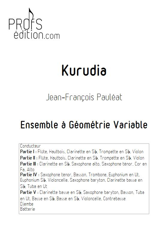Kurudia - Ensemble Variable - PAULEAT J. F. - page de garde