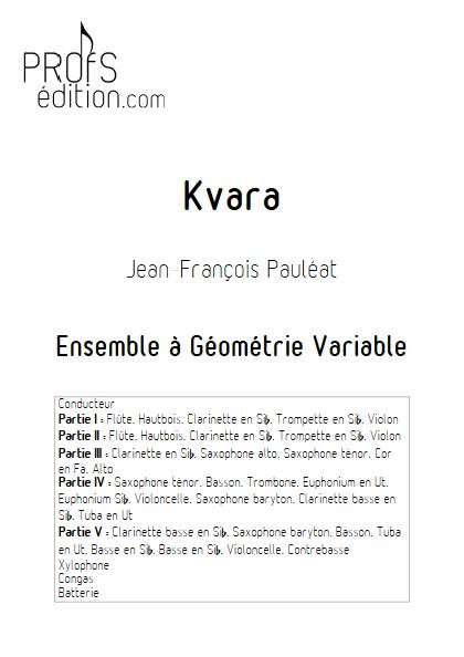 Kvara - Ensemble Variable - PAULEAT J. F. - page de garde