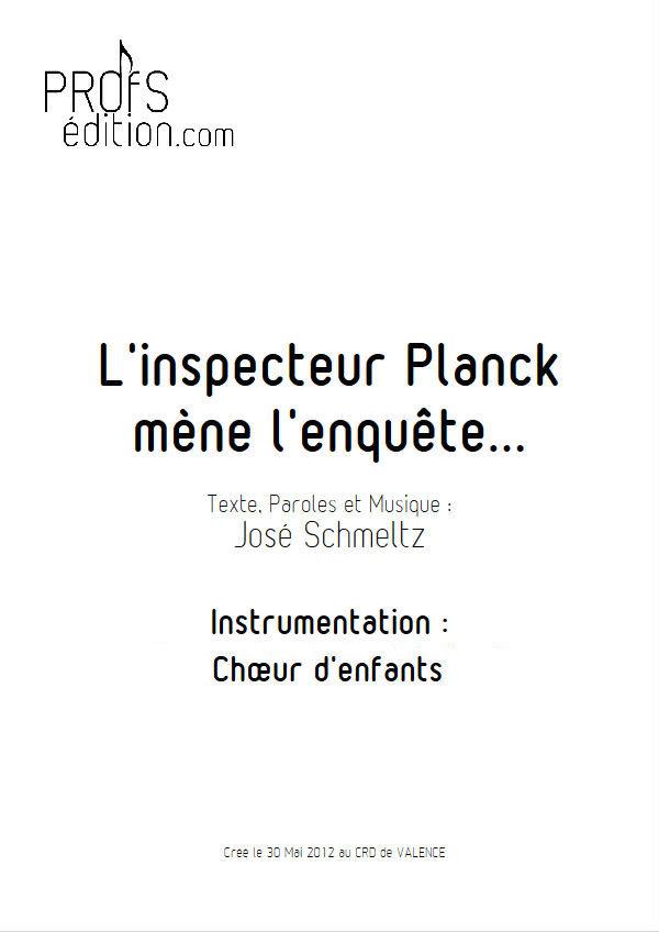 L'inspecteur Planck mène l'enquête - Chœur seul - SCHMELTZ J. - page de garde