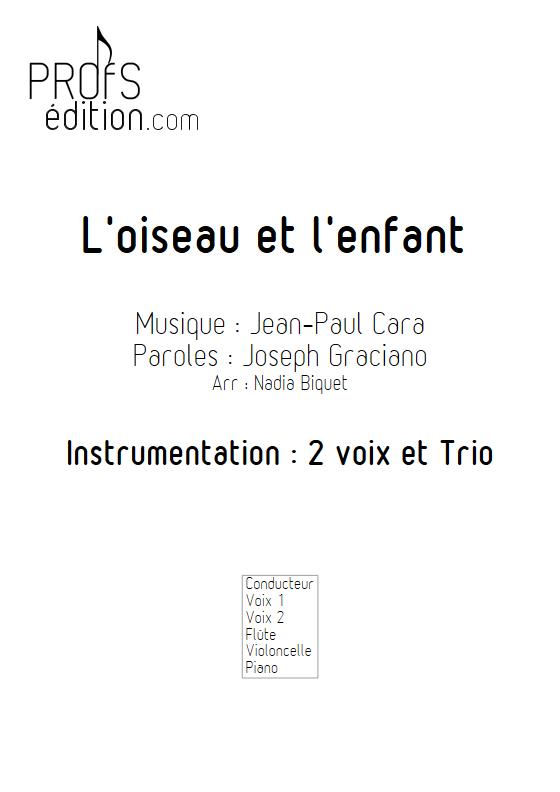 L'Oiseau et l'enfant - 2 voix et Trio - CARA J.P. - page de garde
