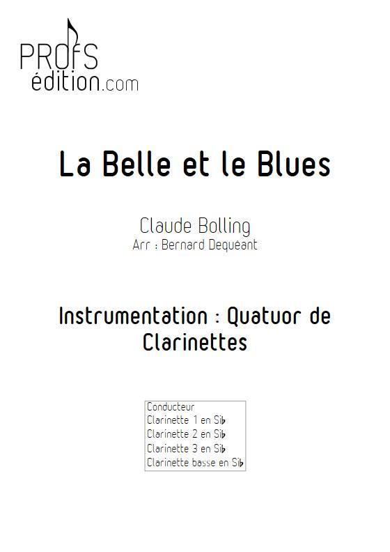 La Belle et le Blues - Quatuor de Clarinettes - BOLLING C. - page de garde