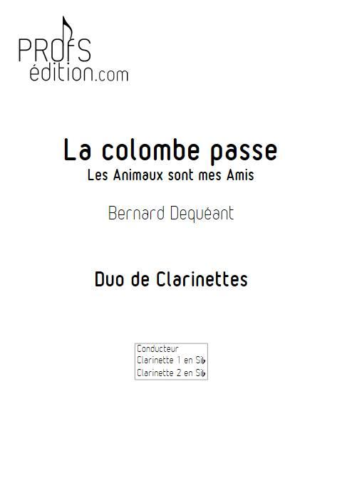 La colombe passe - Duo de Clarinettes - DEQUEANT B. - page de garde