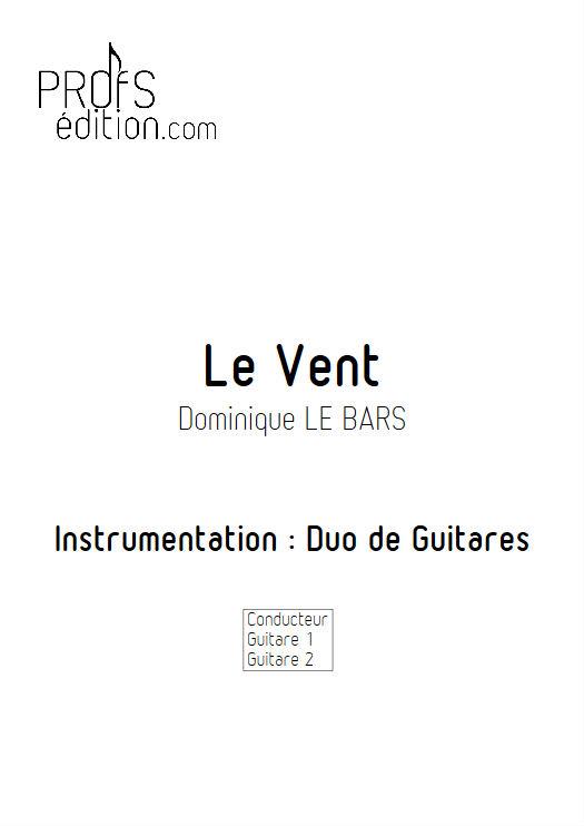 Le Vent - Duos Guitare - LE BARS D. - page de garde