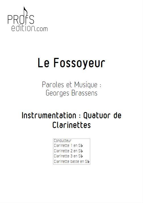 Le Fossoyeur - Quatuor de Clarinettes - BRASSENS G. - page de garde