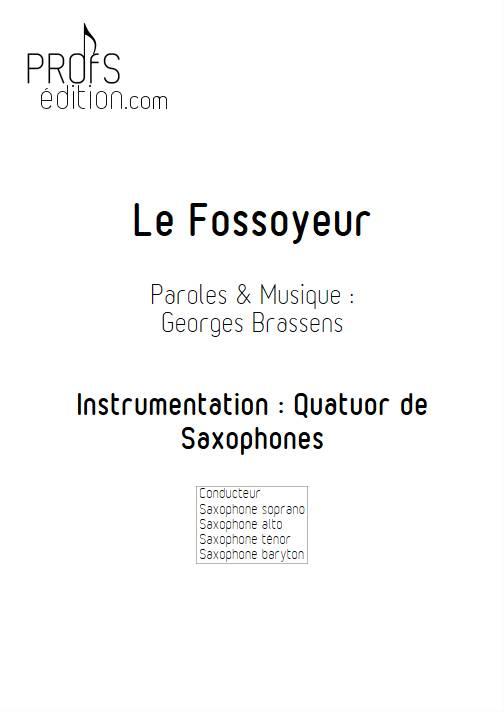 Le Fossoyeur - Quatuor de Saxophones - BRASSENS G. - page de garde