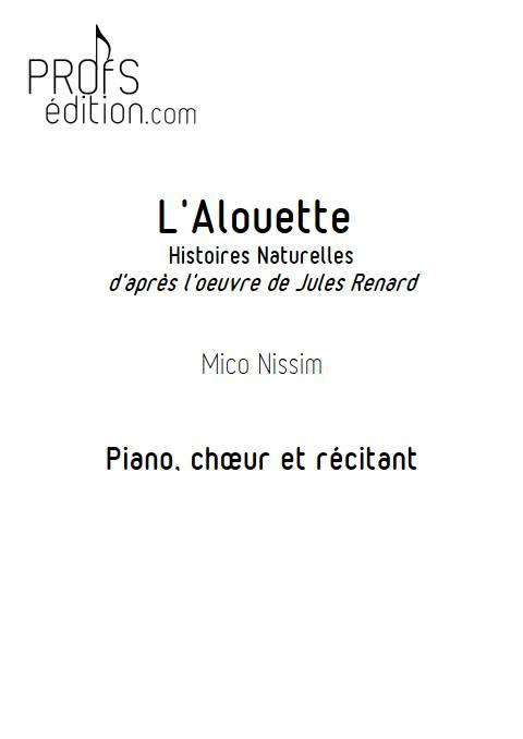 L'Alouette - Chœur et Piano - NISSIM M. - page de garde