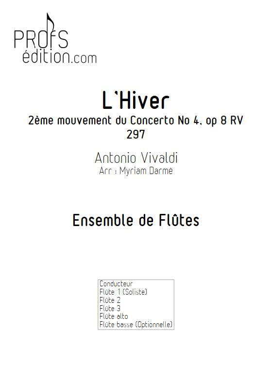 L'Hiver 2e mvt - Ensemble de Flûtes - VIVALDI A. - page de garde