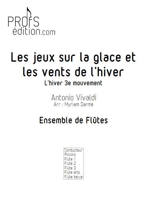 L'hiver - 3e mvt - Ensemble de Flûtes - VIVALDI A. - page de garde