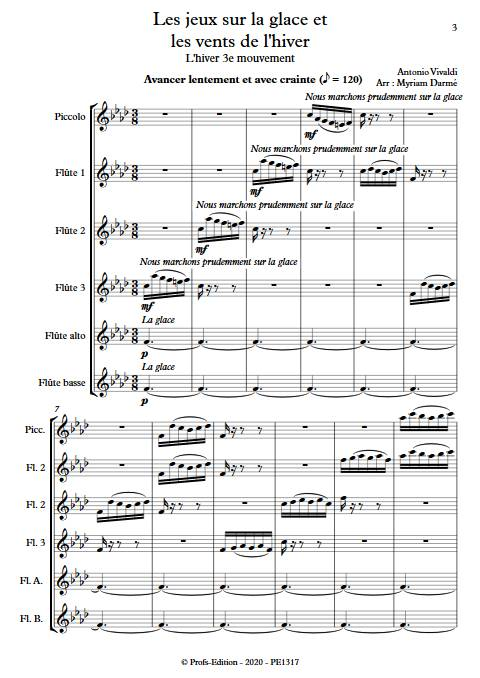 L'hiver - 3e mvt - Ensemble de Flûtes - VIVALDI A. - app.scorescoreTitle