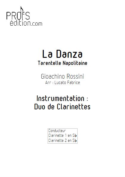 La Danza - Duo de Clarinettes - ROSSINI G. - page de garde