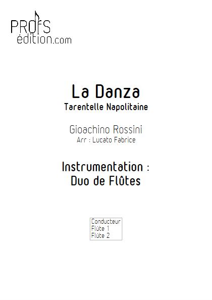 La Danza - Duo de Flûtes - ROSSINI G. - page de garde