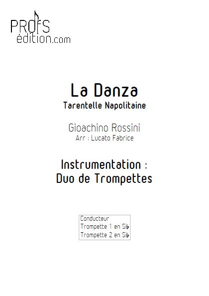 La Danza - Duo de Trompettes - ROSSINI G. - page de garde