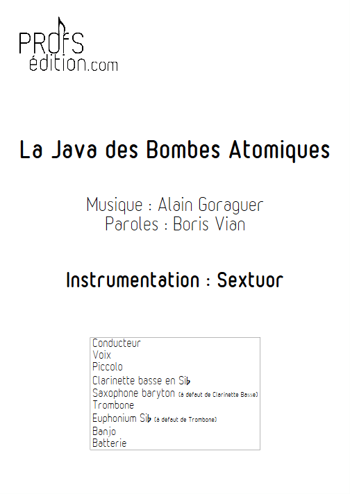 La Java des bombes Atomiques - Relevé Complet - VIAN B. - page de garde