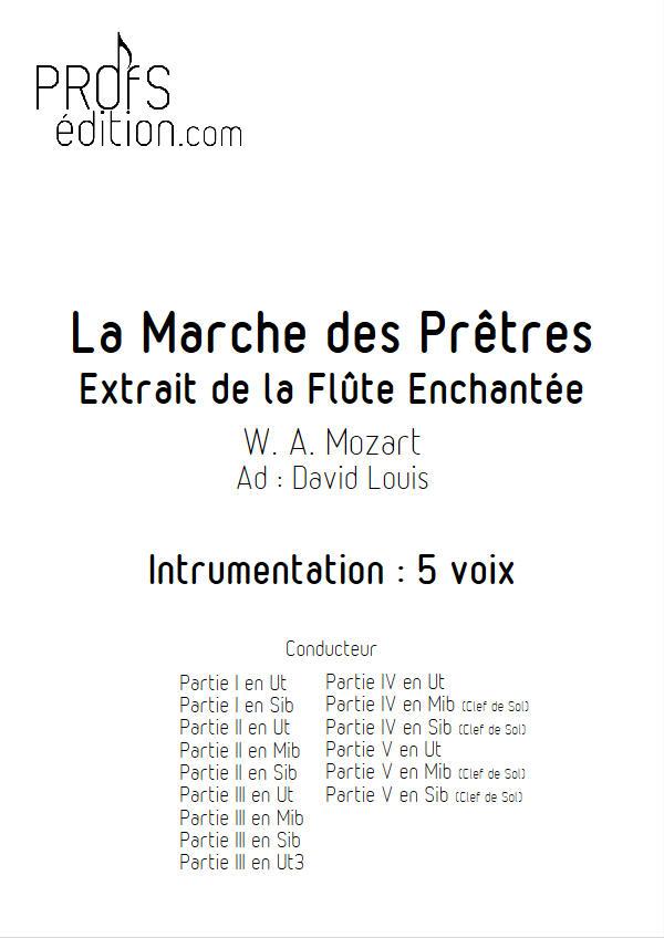 La Marche des Prêtres (La flûte enchantée) - Ensemble Géométrie Variable - MOZART W. A. - page de garde