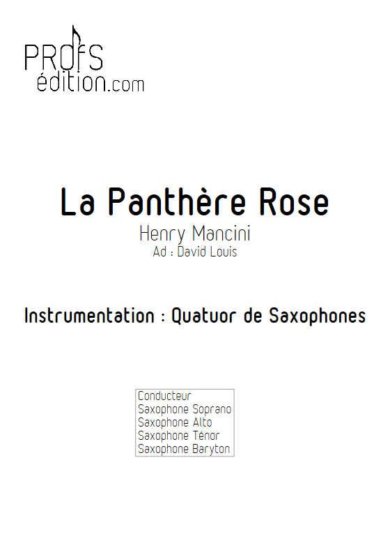 La Panthère Rose - Quatuor de Saxophones - MANCINI H. - page de garde