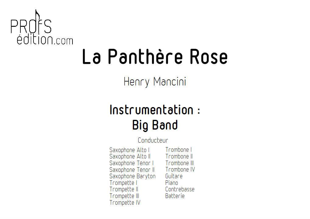 La Panthère Rose - Big Band - MANCINI H. - page de garde