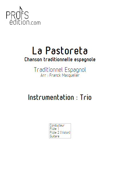 La Pastoreta - Trio Flûtes et Guitare - Traditionnel - page de garde