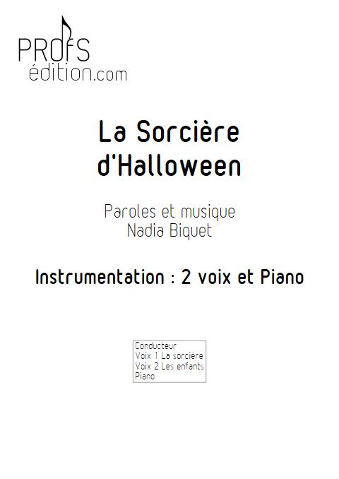 La Sorcière d'Halloween - Piano Voix - BIQUET N. - page de garde