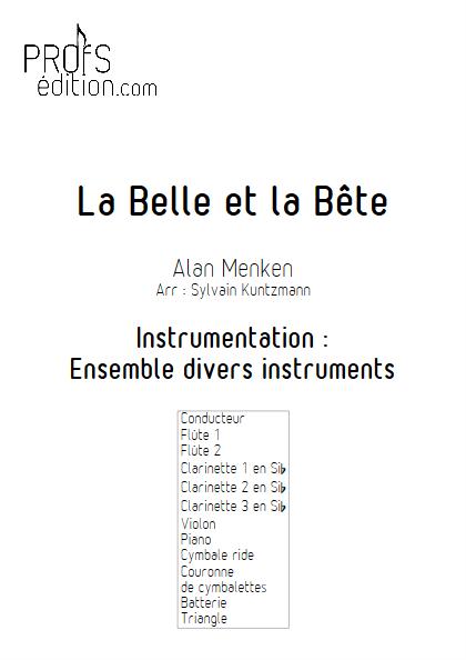 La Belle et la Bête - Ensemble Divers - MENKEN A. - page de garde