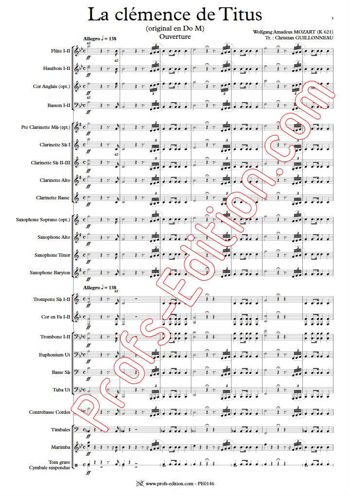 La Clémence de Titus - Orchestre d'harmonie - GUILLONNEAU C. - app.scorescoreTitle
