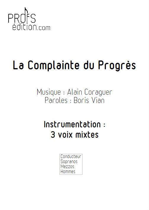 La Complainte du Progrès - Chœur 3 voix mixtes - VIAN B. - page de garde