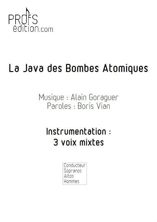 La Java des bombes Atomiques - Chœur 3 voix mixtes - VIAN B. - page de garde
