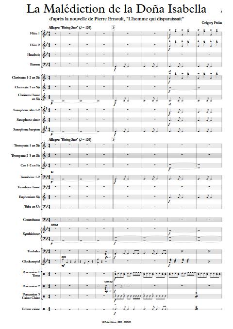 La malédiction de la Dona Isabella - Orchestre d'Harmonie - FRELAT G. - Partition