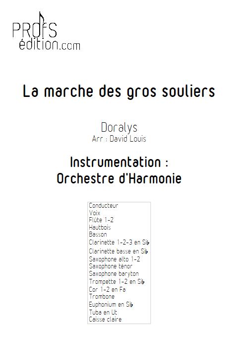 La marche des gros souliers - Chant & Orchestre d'Harmonie - DORALYS - page de garde
