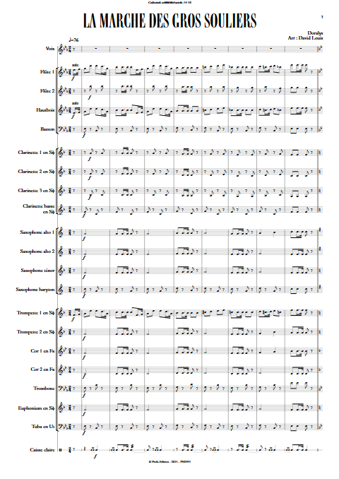 La marche des gros souliers - Chant & Orchestre d'Harmonie - DORALYS - app.scorescoreTitle