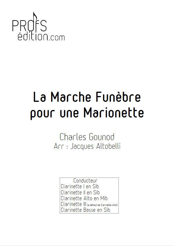 La marche funèbre de la Marionette - Quatuor Clarinettes - GOUNOD C. - page de garde