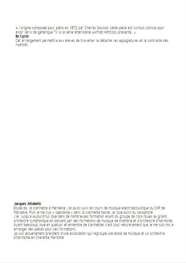 La marche funèbre de la Marionette - Quatuor Clarinettes - GOUNOD C. - Fiche Pédagogique