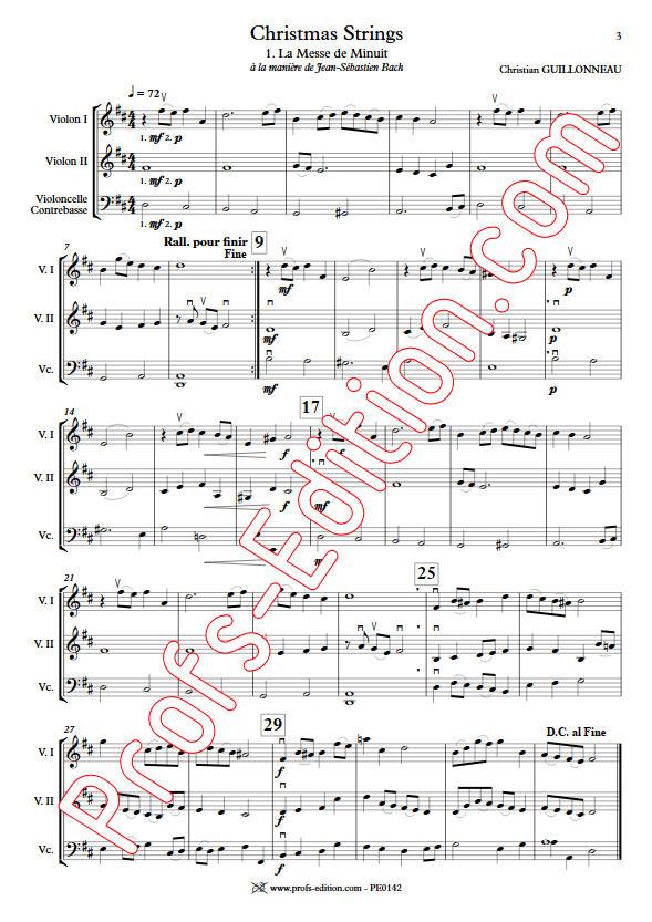 La Messe de Minuit - Orchestre Cordes - GUILLONNEAU C. - app.scorescoreTitle
