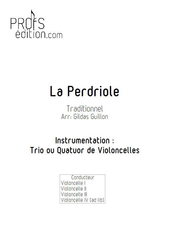 La Perdriole - Trio ou Quatuor Violoncelles - TRADITIONNEL - page de garde
