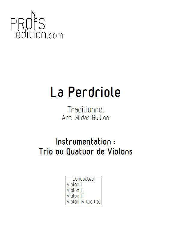 La Perdriole - Trio ou Quatuor Violons - TRADITIONNEL - page de garde