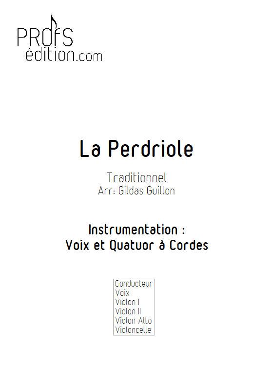 La Perdriole - Quatuor à cordes & Voix - TRADITIONNEL - page de garde