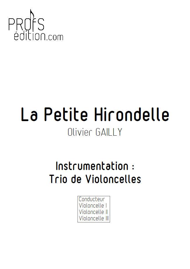 La Petite Hirondelle - Trio Violoncelles - TRADITIONNEL - page de garde