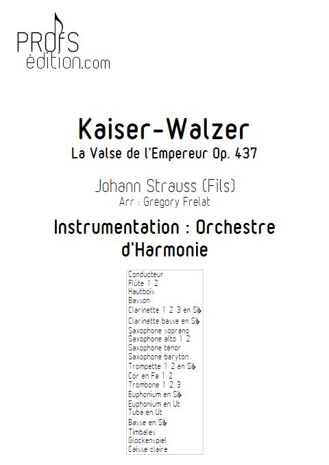 La valse de l'Empereur - Orchestre d'Harmonie - FRELAT G. - page de garde